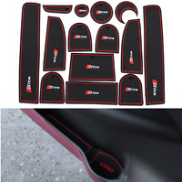 Audi Sline Red 14Pcs/Set Car Pad Interior Anti-Slip Mat Internal Car Accessory
