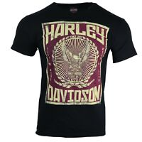 Men's Harley Davidson Boys Motor Graphic Front Short Sleeve T shirts Tops 86