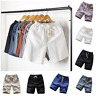 Men's Summer Beach Solid Color Loose Drawstring Casual Pants Cotton Linen Shorts