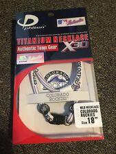 "*New* Phiten 18"" Colorado Rockies Titanium Multi Sport Necklace X30"