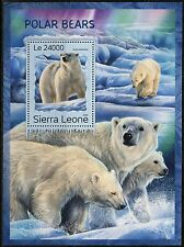 SIERRA LEONE 2016 POLAR BEARS  SOUVENIR SHEET MINT NH