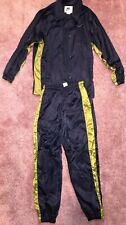 RARE NIKE SATIN FULL TRACKSUIT Mens MEDIUM,NAVY,Glanz,SHINY,VINTAGE RETRO