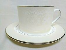 Lenox Kate Spade New York Chapel Hill Platinum Lined Teacup And Saucer Set NWT