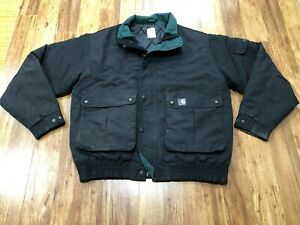 MENS XL - Vtg Carhartt Cordura Nylon Quilted Lined Jacket
