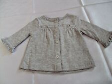 NWT CARTER's  Just One You Baby Girl Grey Cardigan, Jacket Size 0-3 Months