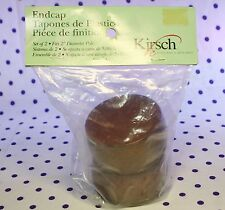 """Kirsch 2"""" Wood Trends Pair of ENDCAPS New in Package MAHOGANY 46808.083"""