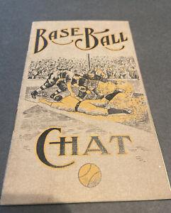 """SHARP c. 1908 """"BASE BALL CHAT"""" FENNER GAME BOOKLET W/HONUS WAGNER~TY COBB~CLARKE"""