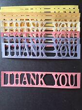 """10 """"THANKYOU"""" Die Cut panels"""