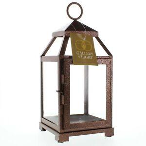 Bronze Metal Contemporary Candle Lantern