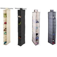 10 SHELF / POCKET HANGING SHOE STORAGE RACK HOLDER STAND ORGANISER WARDROBE UNIT