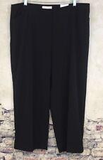 NEW Chico's Size 3 XL 16 Stretch Black Ultimate Fit Pants Capri Cuff Crop #R