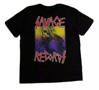 Men Hudson 100% authentic short sleeve t-shirt size large black savage reward