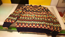 Chaps Ralph Lauren Vintage Funky Multi colored sweater Cosby style women's MED