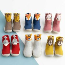 Kids Baby Girl Boys Toddler Anti-slip Slippers Socks Cotton Shoes Winter Warm UK