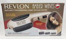 Revlon Amber Waves 1875 Watt Ionic Brush Styler Volumizer Hair Dryer Fast Drying