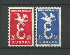 France 1958 EUROPA Y&TN°1173 & 1174 2 timbres oblitérés /T6797
