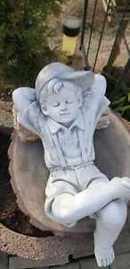 XL Liegender Junge,Gartenfigur wetterfest F0029