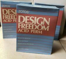 Zotos Design Freedom Acid Perm, regular or extra body results, lot of 3