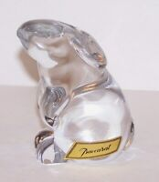 """EXQUISITE SIGNED BACCARAT FRANCE CRYSTAL BUNNY RABBIT 3"""" FIGURINE/PAPERWEIGHT"""