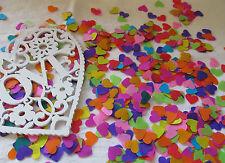 1000 x  1/2 inch Tissue Paper Rainbow Hearts Confetti/Favors/Multi-Coloured
