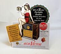 RCA Victor Radio Stand up Display Nipper Dog Camden NJ Christmas Ad