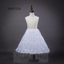 Flower GirlDress 3 Hoop A Line Crinoline Petticoat Underskirt Children NORIVIIQ
