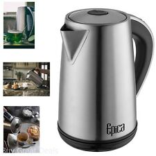 1.7 Liter Electric Kettles Stainless Steel Cordless Hot Beverage 1500 Watts New
