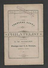 U.S. 1886 THE CAPITAL CITY PHILATELIST MAGAZINE, MAINE, APRIL ISSUE, 20 PAGES