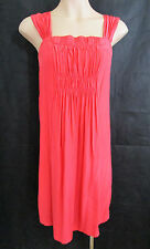SABA 100% Silk Dress - Coral - Size 8