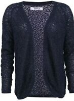 New Women's Only Popcorn Knit Cardigan Jumper Navy Blazer Size S RRP£22!!