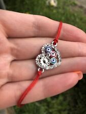 Bracelet Heart Red Thread Protection Evil Eye Handmade