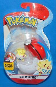 "Pokemon Clip N Go TOGEPI & POKE BALL *NEW* 3"" 2020 Battle Ready"