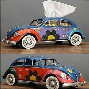 Handcrafts Figurines Retro classic cars Tissue Box Crafts Vintage Ornament