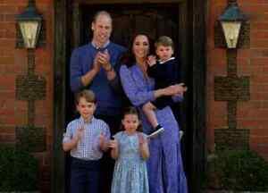 Kate Middleton Blue/White Floral Dress