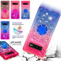 For Samsung Galaxy S 8 9 10 Plus S10e Gradient Glitter Ring Quicksand Case Cover