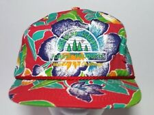 Vintage Hawaiian Snapback Hat Cap Print 80s Douglas Forest Products