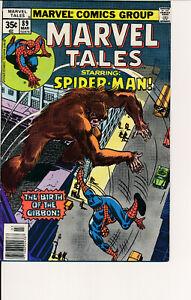 COMIC BOOK  -MARVEL TALES #89 1977 MARVEL COMICS SPIDERMAN F/VF- NICE COPY! L@@K