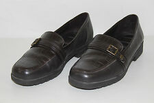 FREE SHIPPING Easy Spirit Womens Size 8.5 W Brown Leather Casual Loafers Shoes