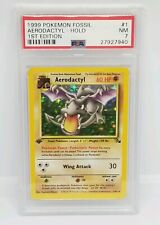 Rare Pokemon Card Holo 1st Edition Aerodactyl Fossil Set 1/62 PSA Original Foil
