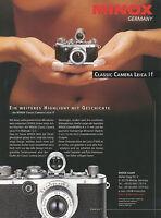 Prospekt D Minox Leica I f Kamera Kameraprospekt 1996 brochure camera Broschüre
