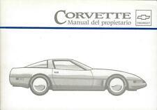 CHEVROLET CORVETTE Manual del Propietario 1995 Betriebsanleitung  BA