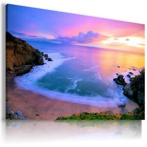 PARADISE VIEW OCEAN SUNSET SEA OCEAN Canvas Wall Art Picture  L160  MATAGA