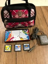Red Nintendo DS Lite Bundle (Console, AC adapter, stylus) Super Mario Tested