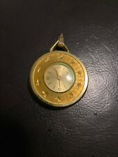 Persona Gold Tone Star Etched Watch Pendant Swiss Made