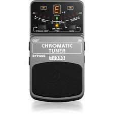 Behringer TU300 Chromatic Pedal Guitar Bass Tuner +Picks