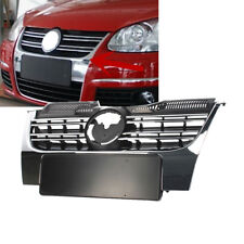 Fit For VW Jetta MK5 05-10 Front Bumper Radiator Center Grille W/ Chrome Grill