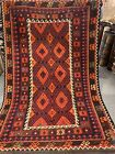 6X9 FT Handmade vintage Uzbek Maimana Vegetable Dye Natural Colors Wool Kellim