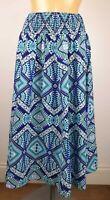 NEW Debenhams Ladies TURQUOISE Aztec Print Summer Skirt Size 10 - 20