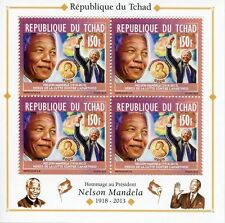 Chadian Sheet Famous People Postal Stamps