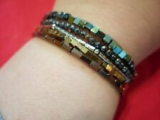 Set of 5 Multi-Color Hematite Bracelets - 95.90 Carats (Stretchable)